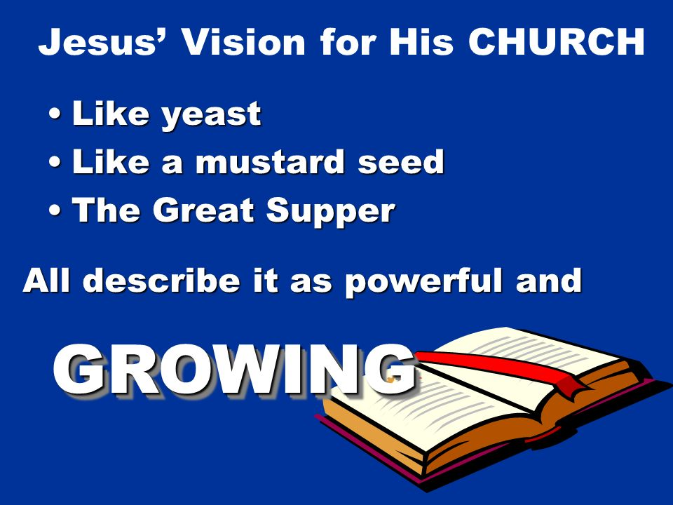 Predictions of the CHURCH To Abraham By Isaiah By Daniel All describe it as powerful and GROWINGGROWING
