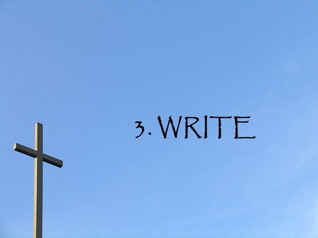 3. WRITE