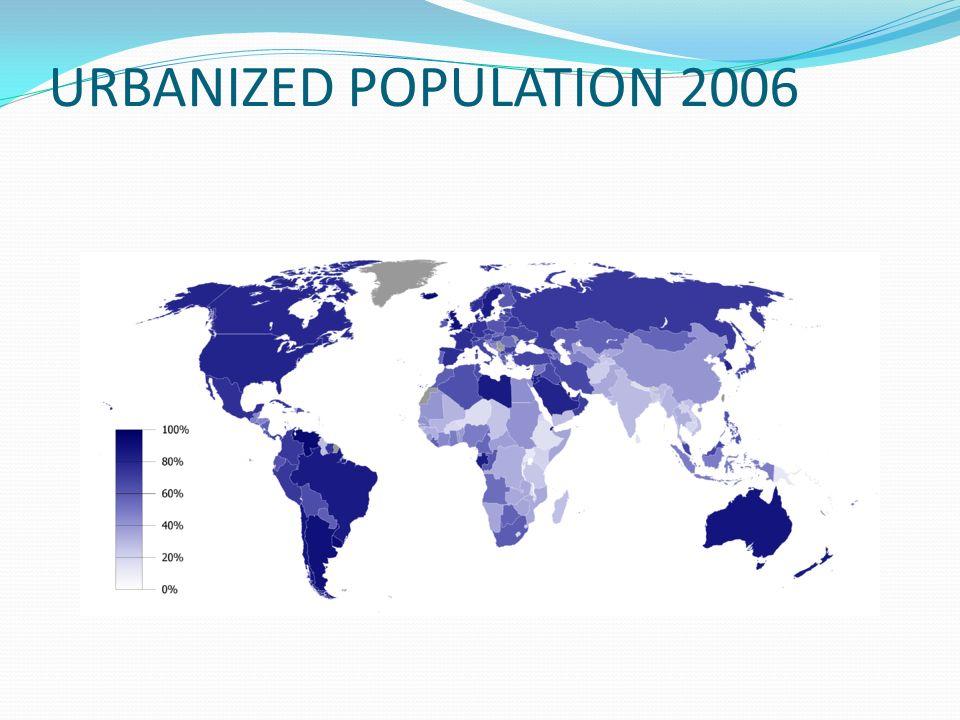 URBANIZED POPULATION 2006