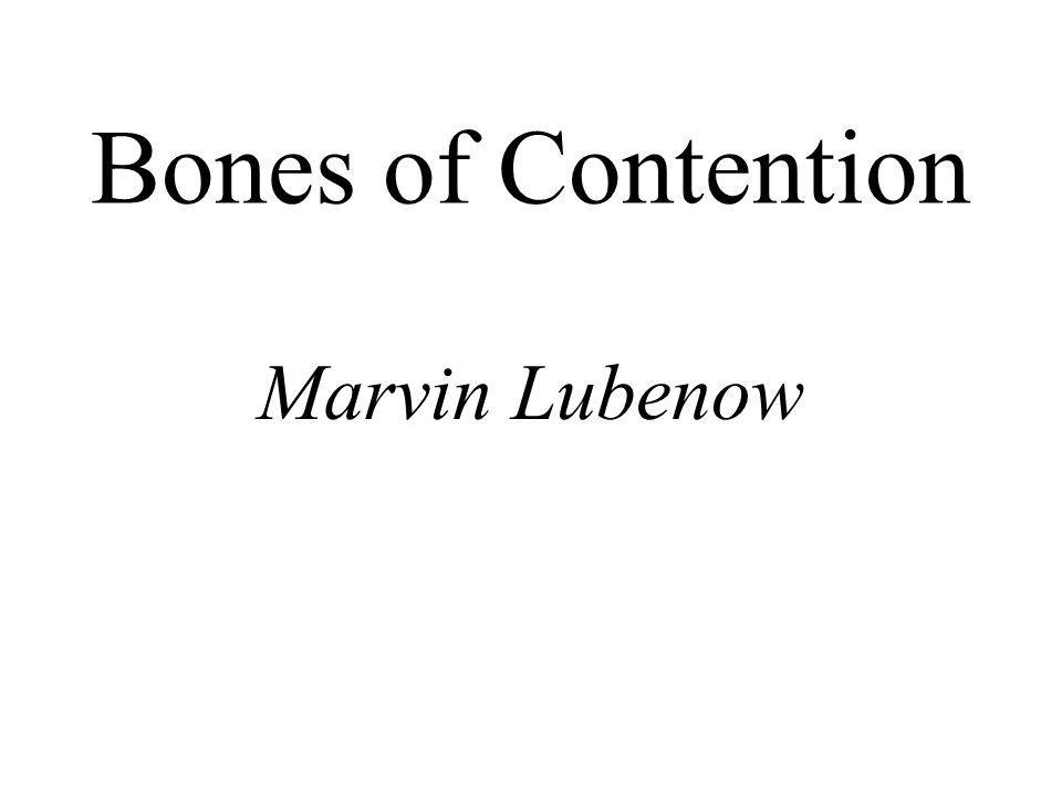 Bones of Contention Marvin Lubenow