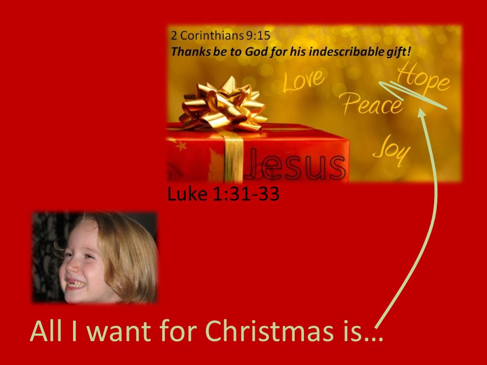 All I want for Christmas is… Luke 1:31-33