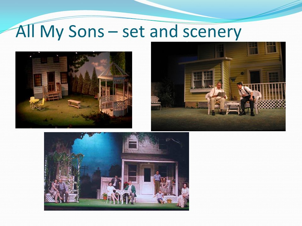 All My Sons – set and scenery