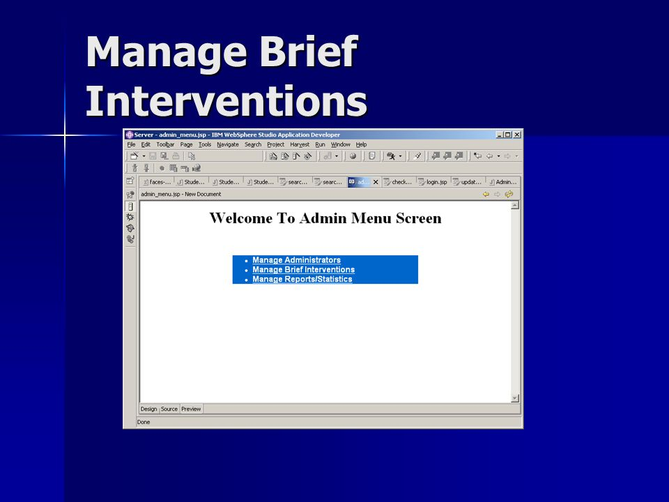 Manage Brief Interventions