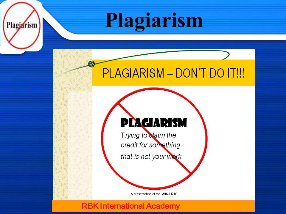 1/13/2014 Plagiarism RBK International Academy