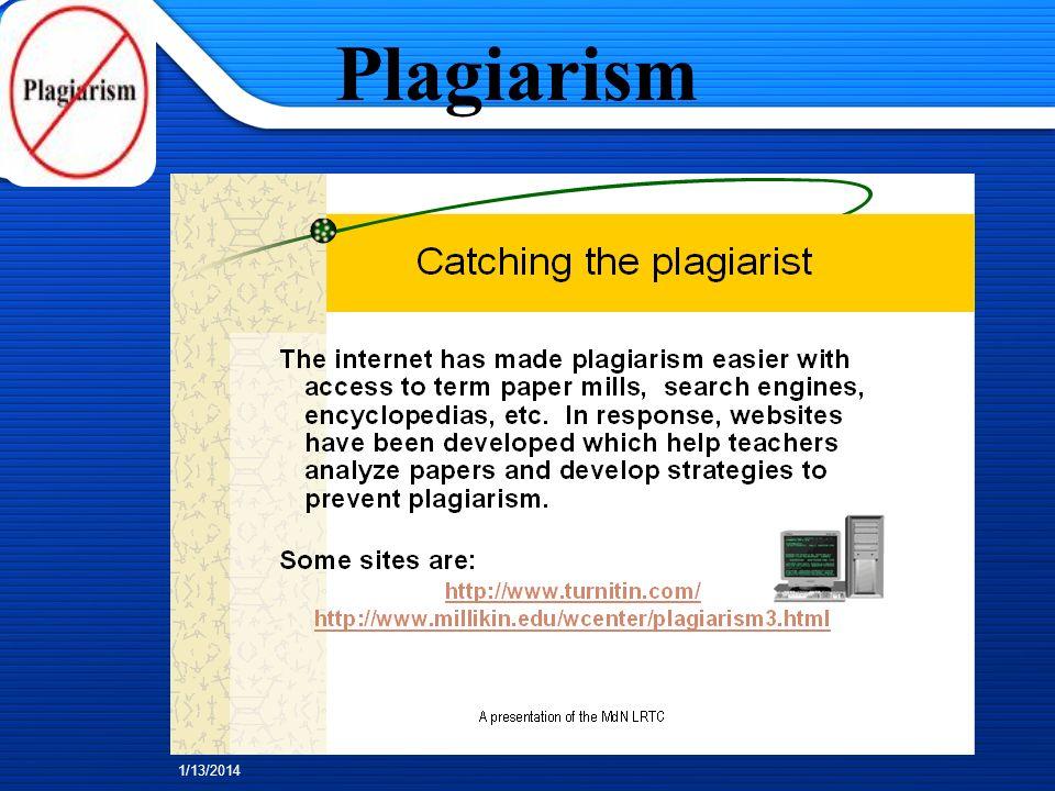 1/13/2014 Plagiarism