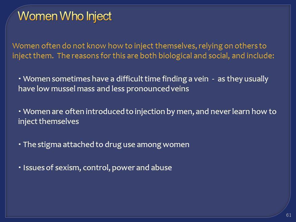 Working With Methamphetamine Users: Women Who Inject 60