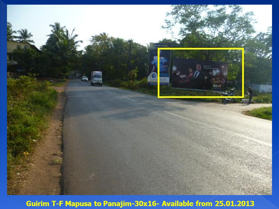 Guirim T-F Mapusa to Panajim-30x16- Available from