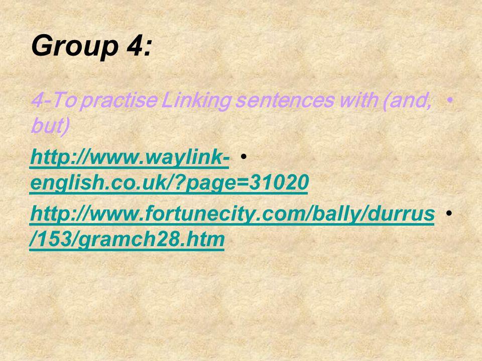 Group 3: 3-To define Nouns http://www.grammar.ccc.commnet.edu/ GRAMMAR/nouns.htm http://www.ud.ac.uk/internet- grammar/nouns/nouns.htm http://www.englishclub.com/grammar/n ouns.htm