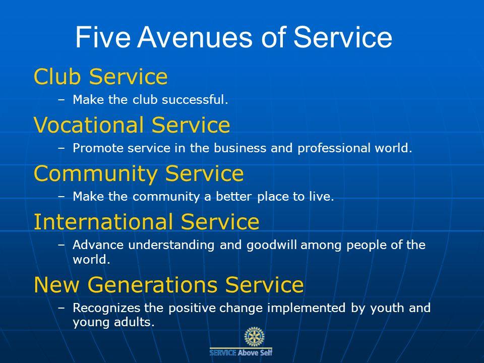 Club Service –Make the club successful.