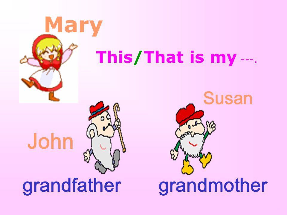 Mary Mr.Brown father Mrs.Brown mother parents daughter