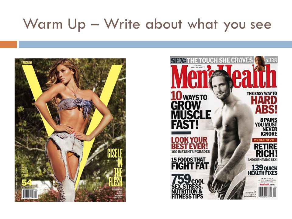 Warm Up – Write about what you see