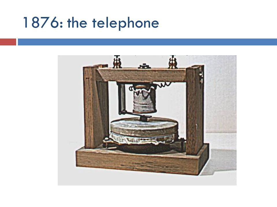 1876: the telephone
