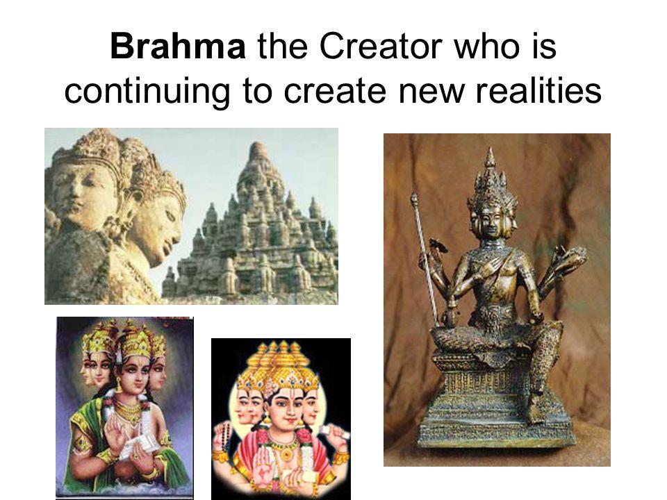 Vishnu, (Krishna) the Preserver, who preserves these new creations.