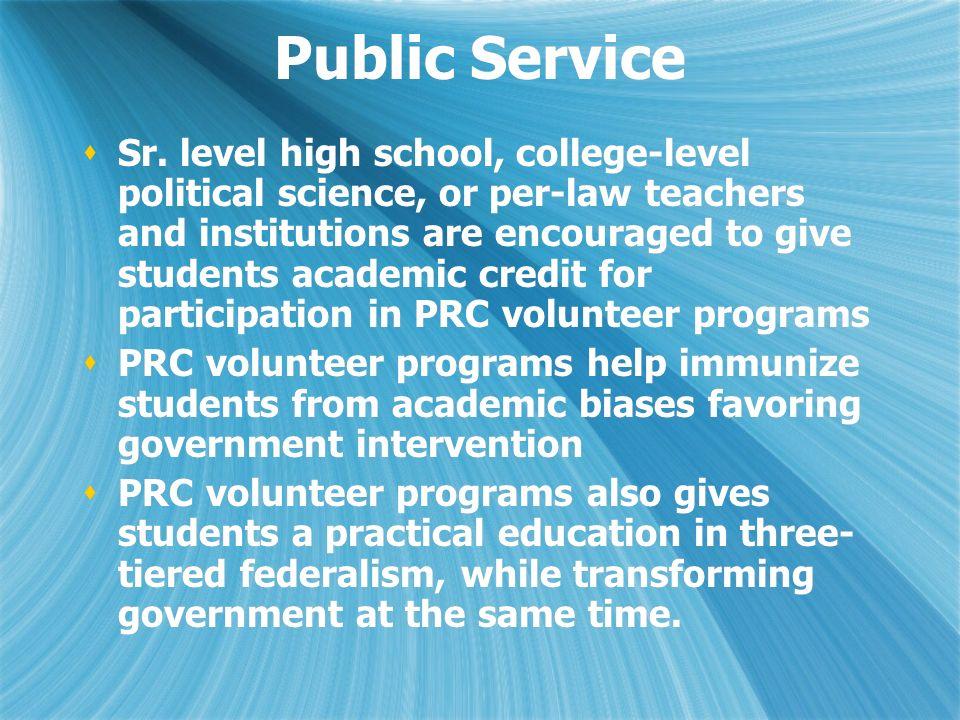 Public Service Sr.