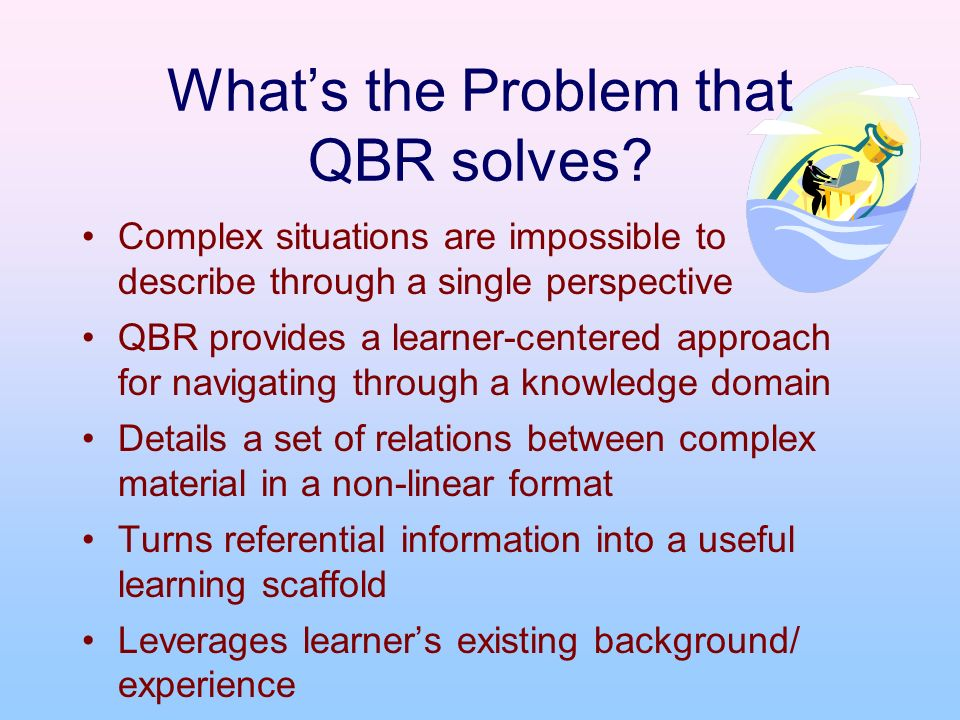 Whats the Problem that QBR solves.