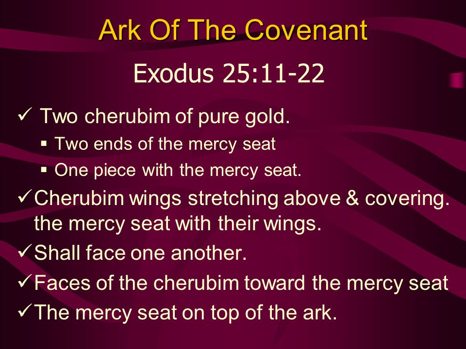 Ark Of The Covenant Two cherubim of pure gold.