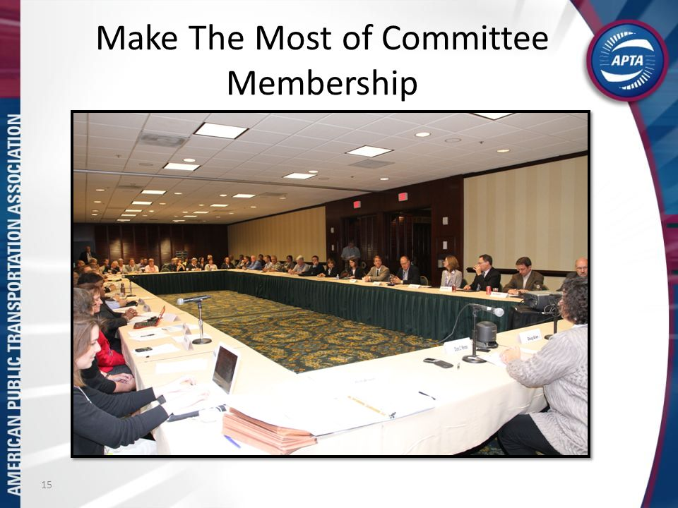 Make The Most of Committee Membership 15