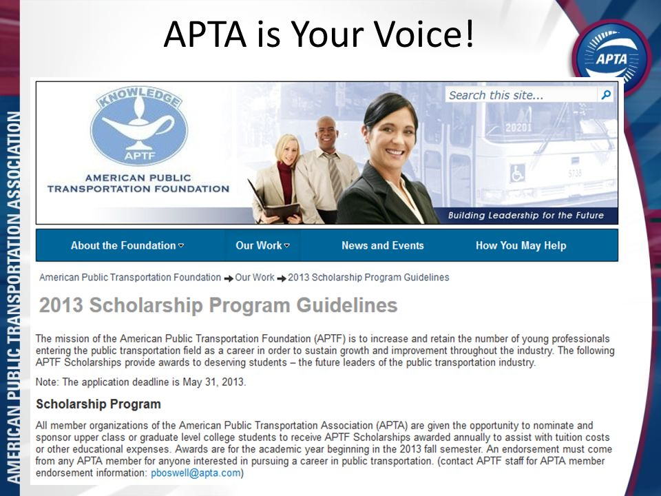 APTA is Your Voice! 7