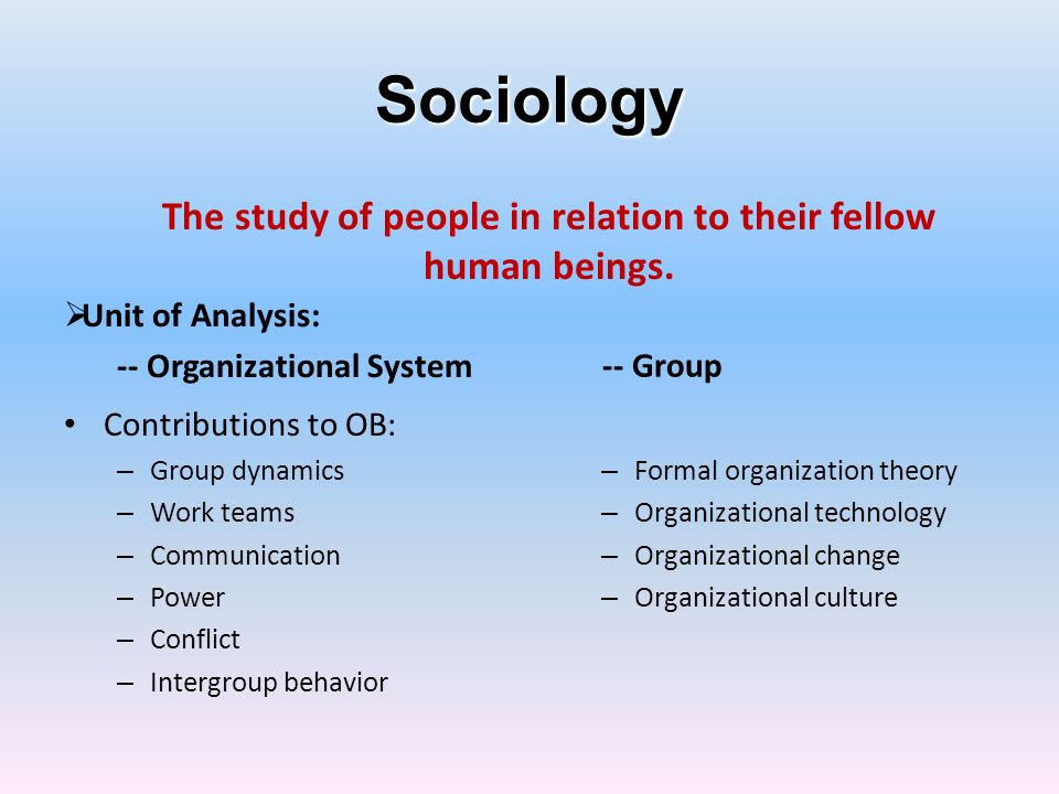 Social Psychology An area within psychology that blends concepts from psychology and sociology and that focuses on the influence of people on one another.