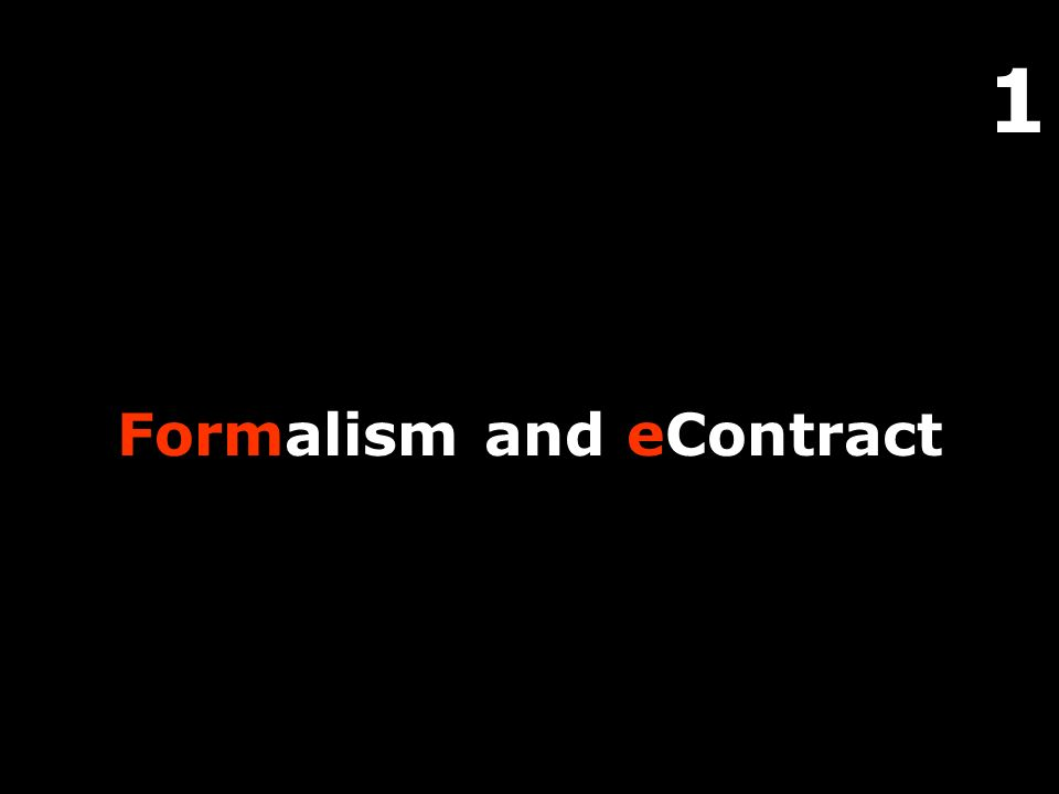 1 Formalism and eContract