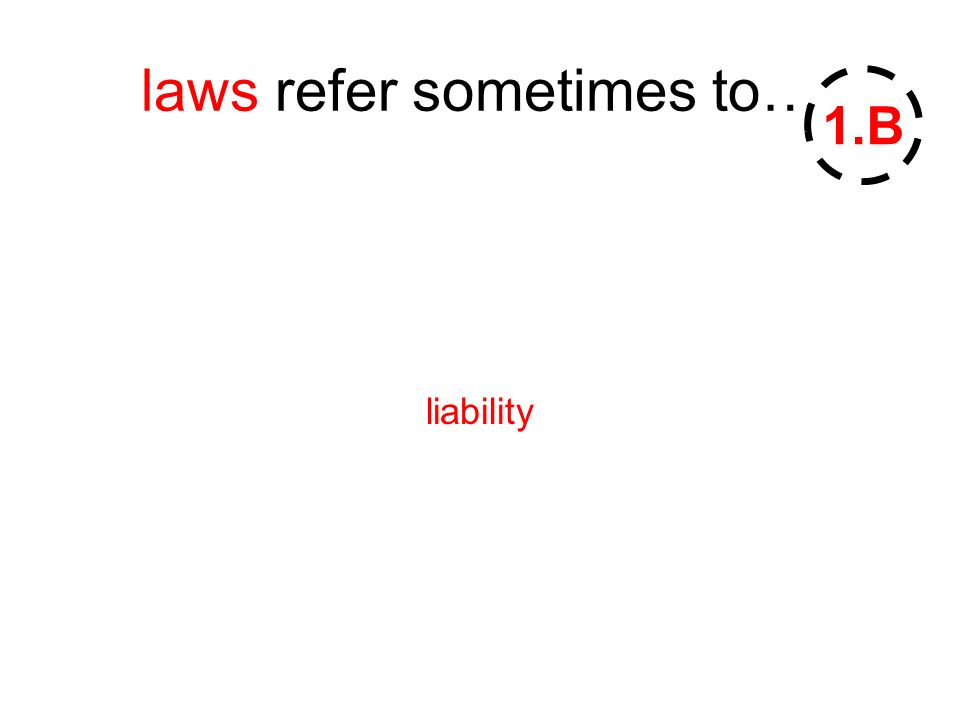 laws refer sometimes to… liability 1.B