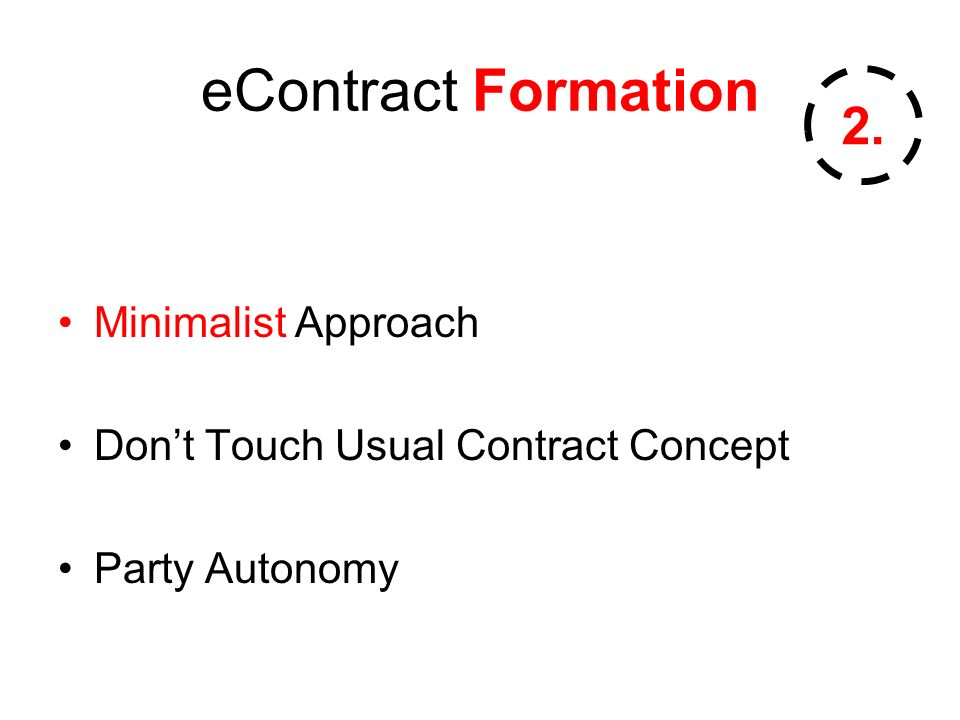 eContract Formation Minimalist Approach Dont Touch Usual Contract Concept Party Autonomy 2.