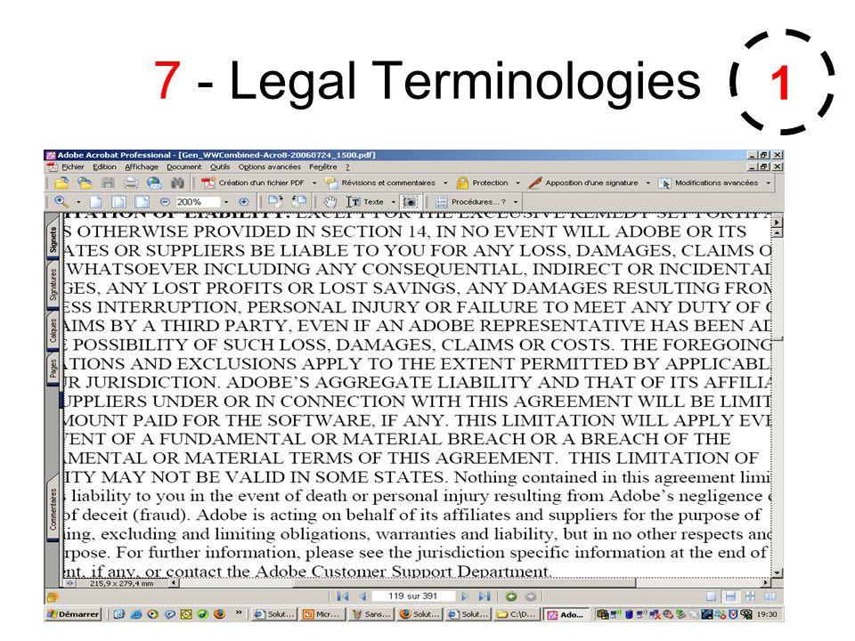 7 - Legal Terminologies 1