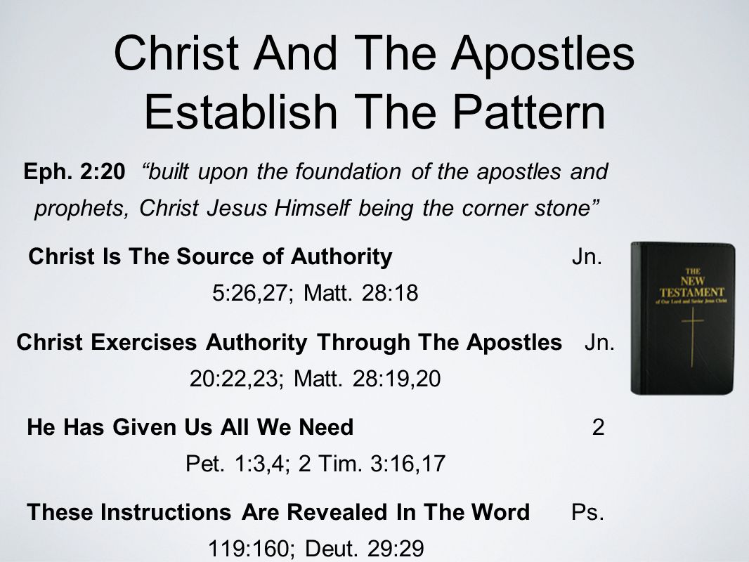 Christ And The Apostles Establish The Pattern Eph.