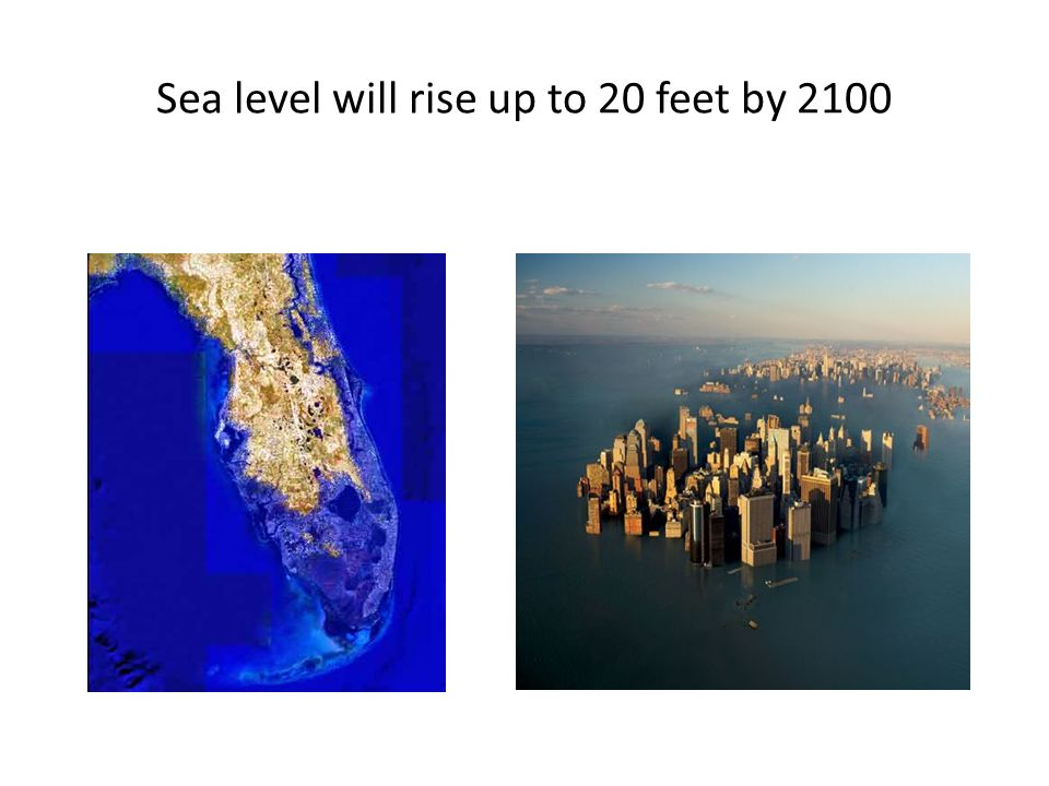 Sea level will rise up to 20 feet by 2100