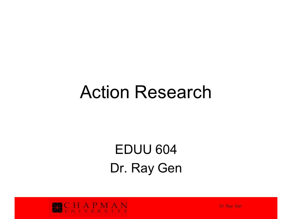 Components of Action Research 1.Abstract 2.