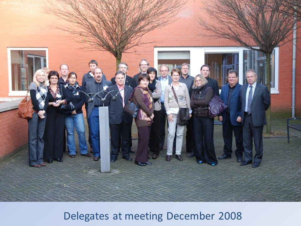 Delegates at meeting December 2008