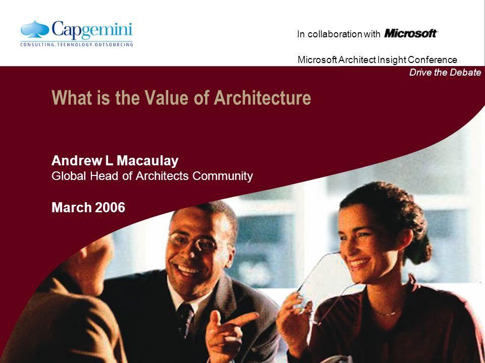 How Can Architecture Help? www.capgemini.com