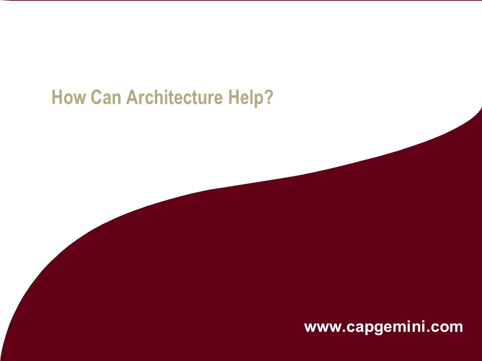 In collaboration with | Microsoft Architect Insight Conference March 2006 Copyright © 2006 Capgemini - All rights reserved 9 IT Landscapes often locke