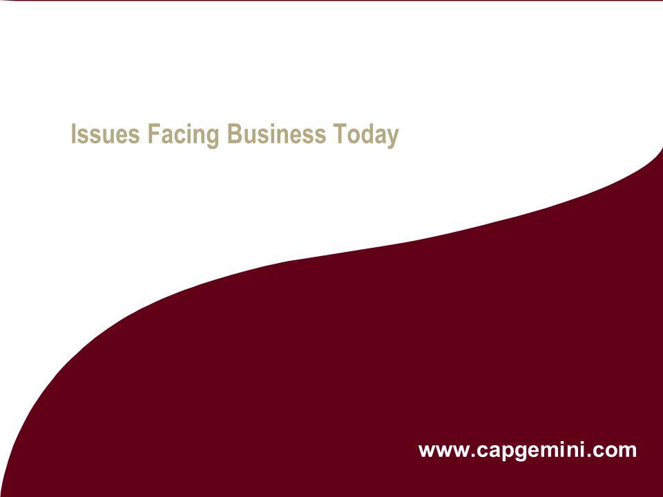 Issues Facing Business Today www.capgemini.com