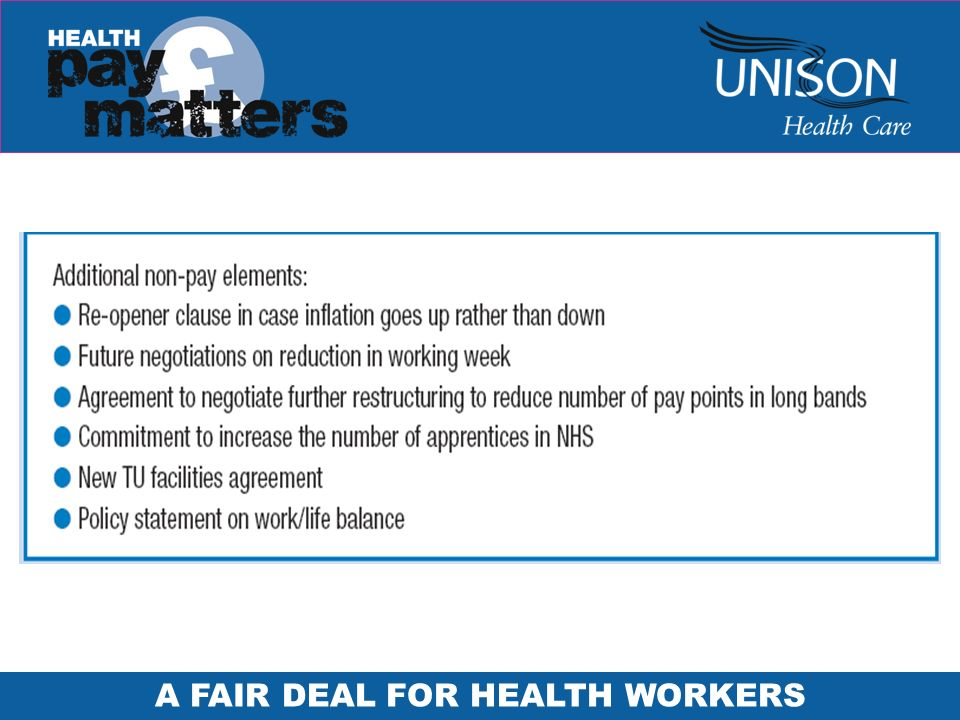 A FAIR DEAL FOR HEALTH WORKERS