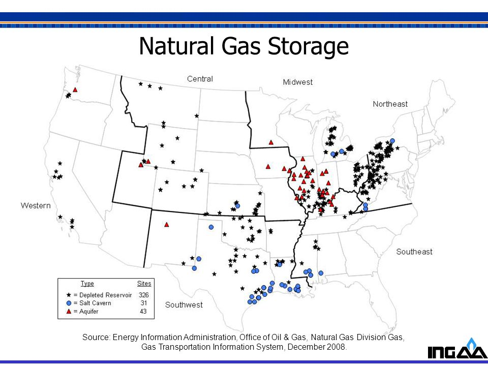 6 Natural Gas Storage Source: Energy Information Administration, Office of Oil & Gas, Natural Gas Division Gas, Gas Transportation Information System,