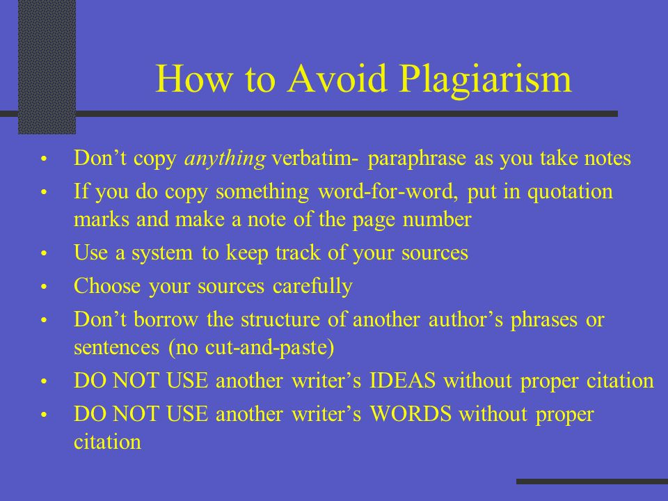 What Happens If I Plagiarize? You receive an F on your project I will have to write you up for administrative consequences It may be on your permanent