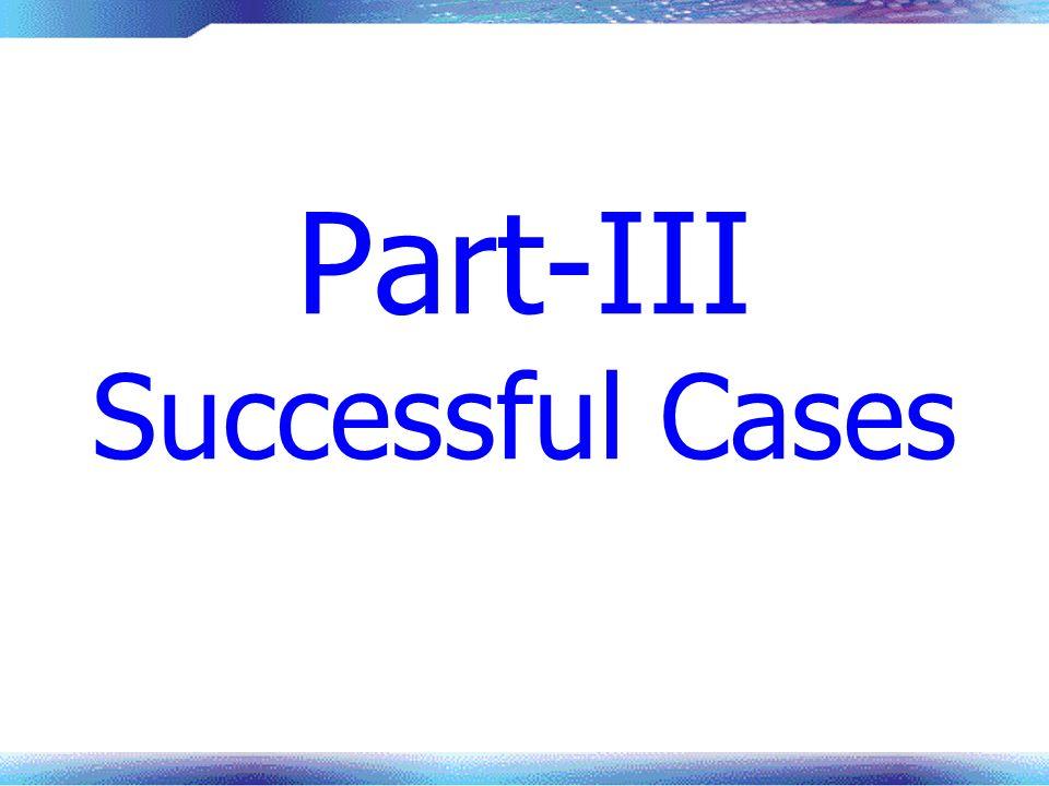 Part-III Successful Cases