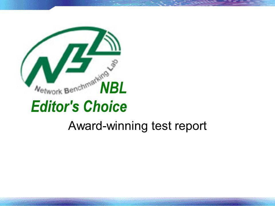 Award-winning test report