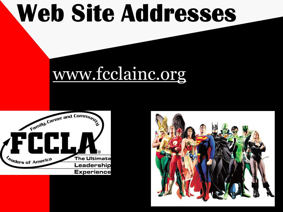 Web Site Addresses www.fcclainc.org