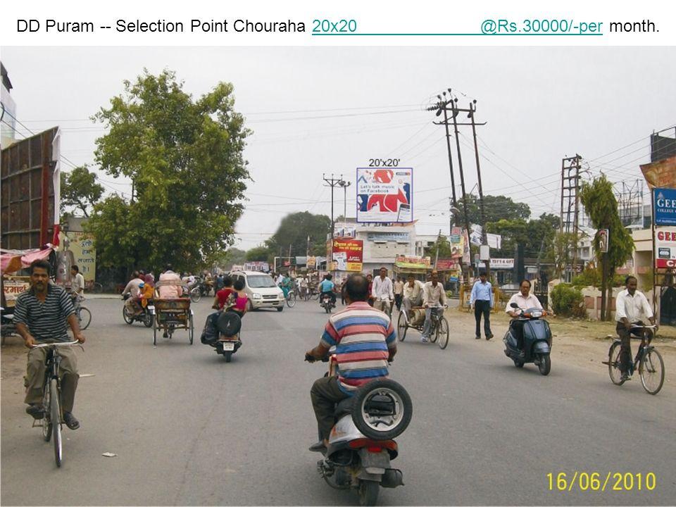Fhatehganj Delhi Road 40x20 F Delhi @Rs.22/-per sq feet per month.