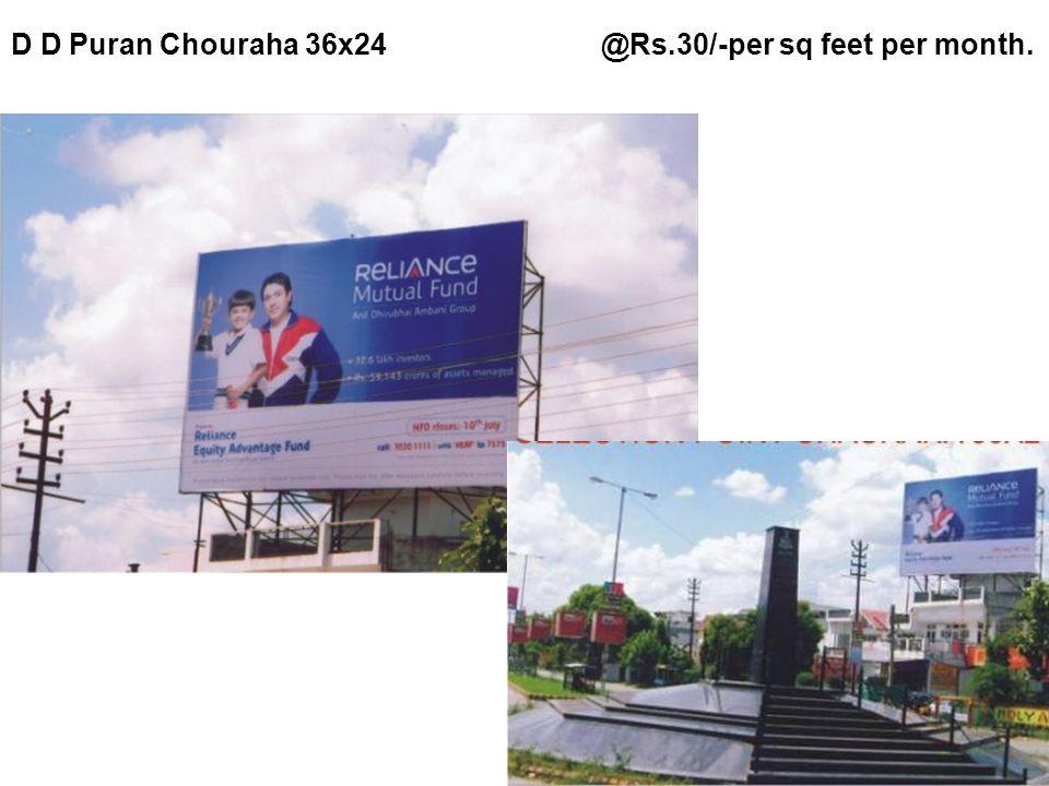 Chouki Choura @Rs.35/- per sq feet per month.