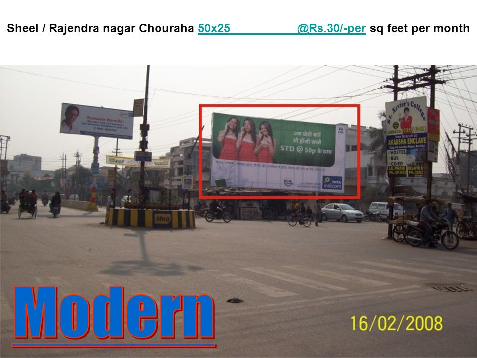 Delapeer Chouraha 40x20 @Rs.30/-per sq feet per mpnth.