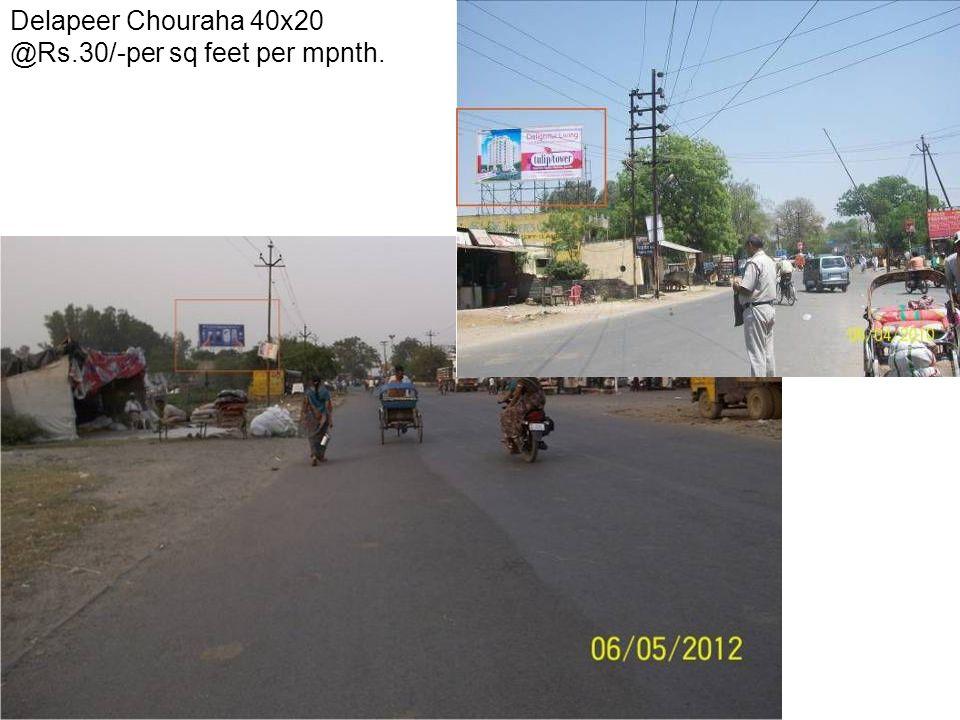 Ayub Khan Chouraha 30x20 @Rs.35/-per sq feet per month.