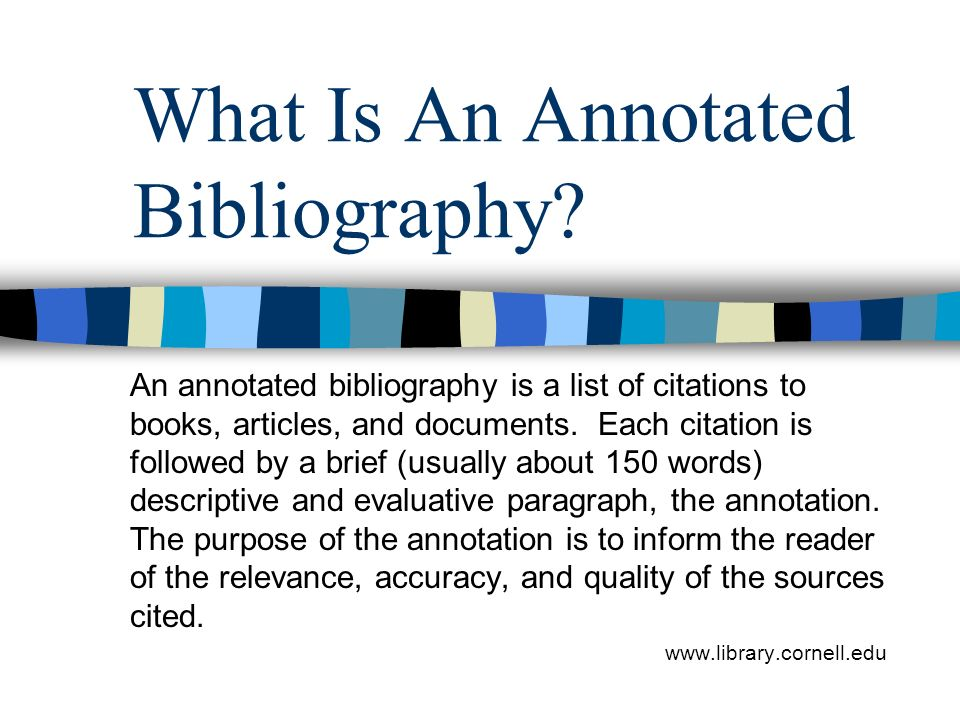 Sample Page  MLA formatted annotated bibliography