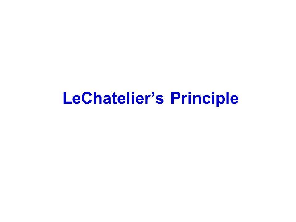 LeChateliers Principle