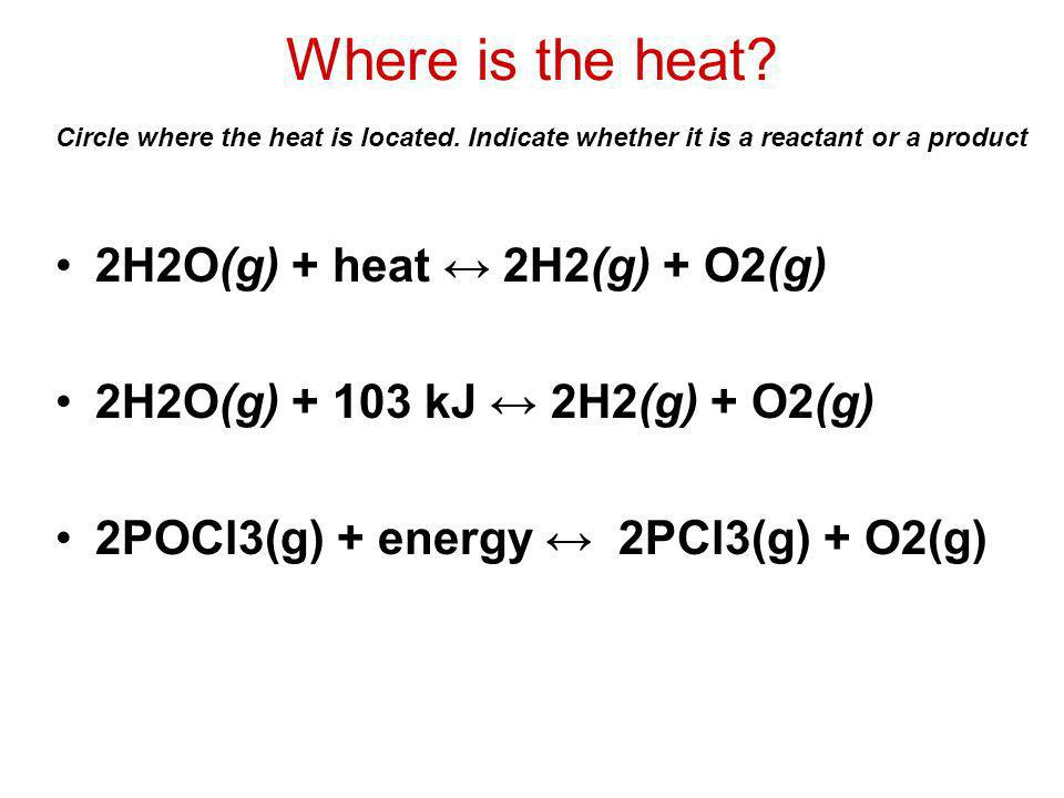 Where is the heat.
