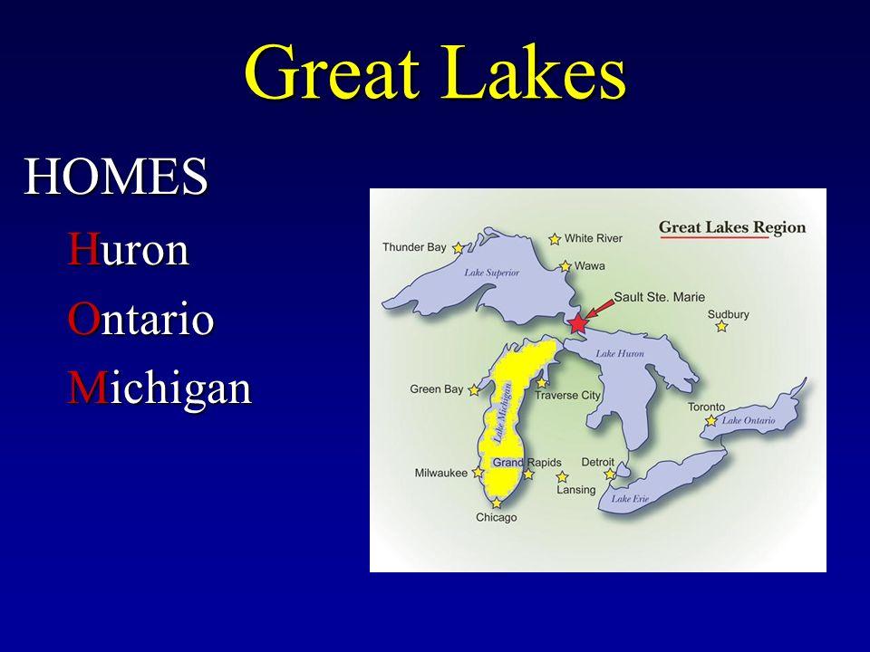 Great Lakes HOMES Huron Ontario Michigan