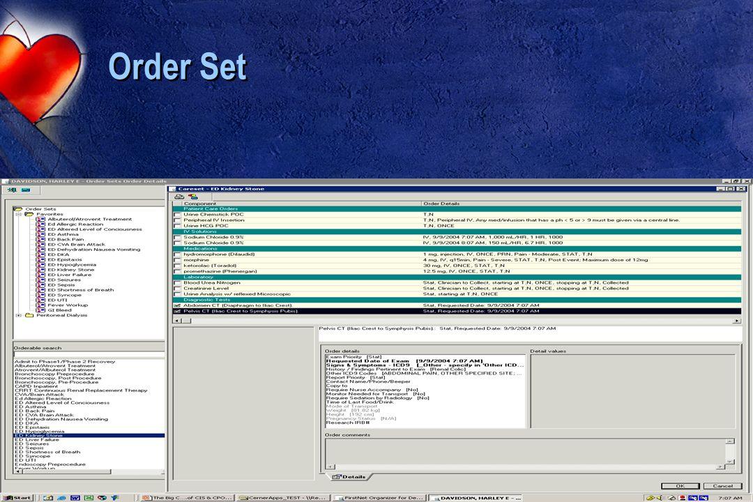 Order Set