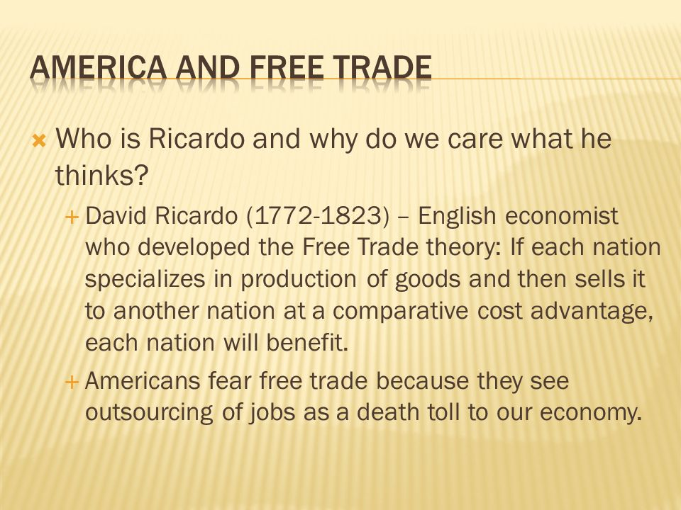 Who is Ricardo and why do we care what he thinks.